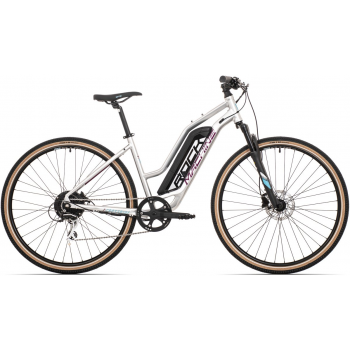 ROCK MACHINE Cross e325 lady gloss silver/dark crimson/neon cyan (400Wh)